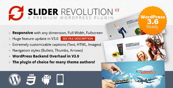 Slider Revolution v3.0.95 Responsive WordPress Plugin