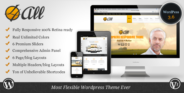 ThemeForest 4ALL Responsive Multi-Purpose Theme 5231993
