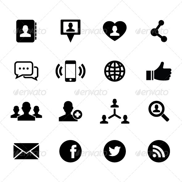 GraphicRiver Social Network Icon 5339699