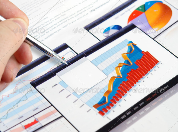 Investment Charts - Stock Photo - Images
