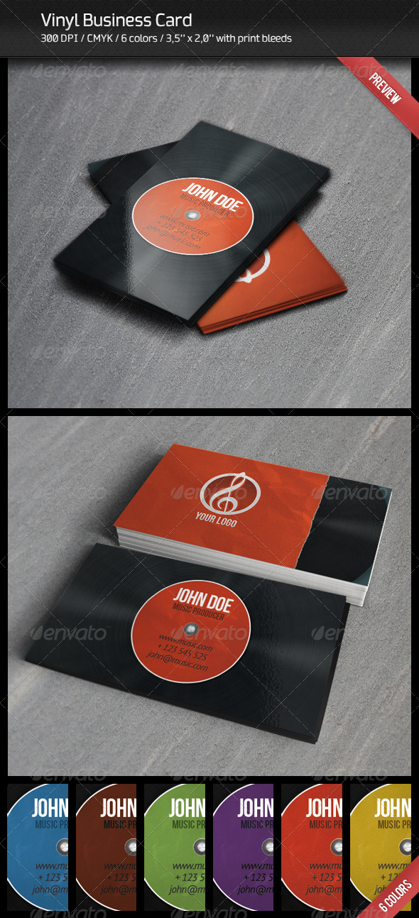 Vinyl Business Card - Creative Business Cards