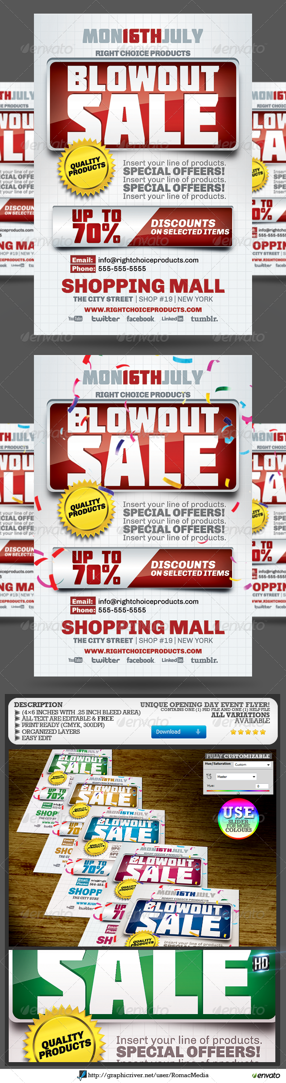 GraphicRiver Blowout Sale Event Flyer 5342153