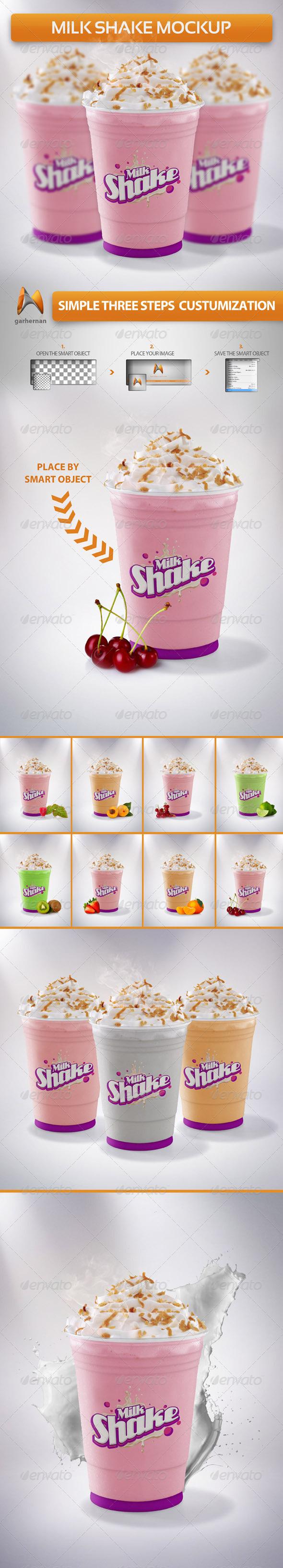GraphicRiver Milkshake Mockup 5342578