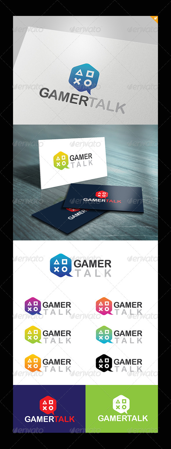 GraphicRiver Gamer Talk Logo 5342904