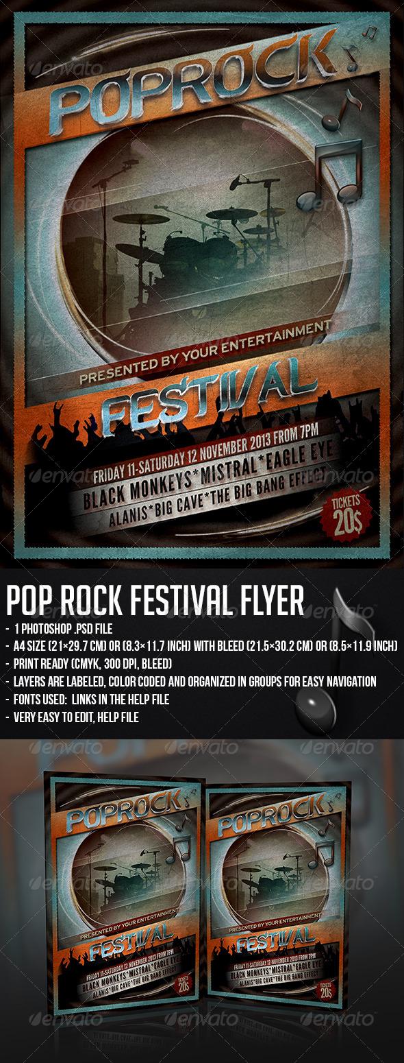 GraphicRiver Pop Rock Festival Flyer 5342917