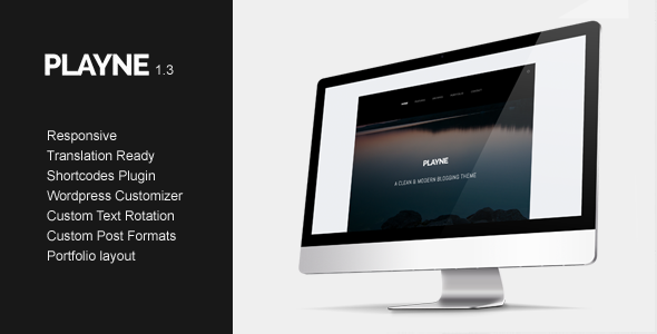 Playne - Clean & Modern Blogging Theme - Personal Blog / Magazine