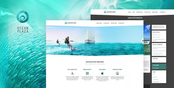 OceanPlaza WordPress Theme (Corporate) images
