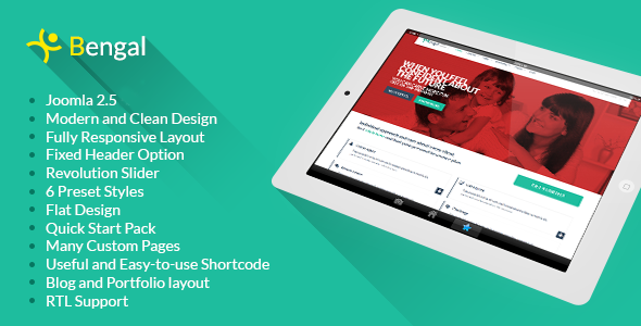 ThemeForest Bengal Responsive Corporate Joomla Template 5343692