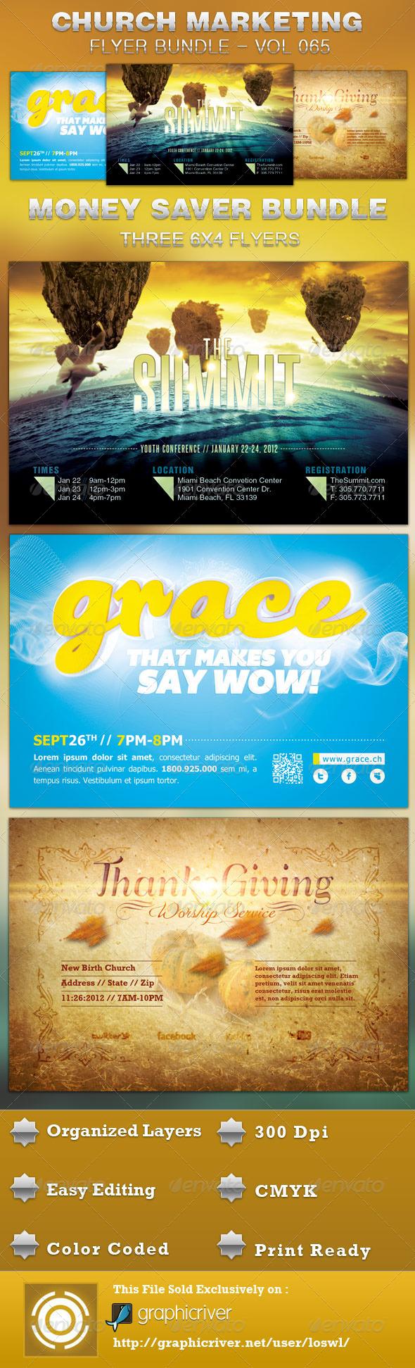GraphicRiver Church Marketing Flyer Template Bundle Vol 065 5344082