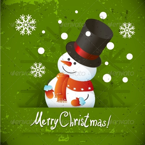 GraphicRiver Snowman illustration for Christmas Design 5344098