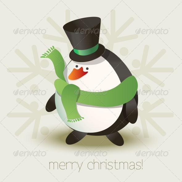 GraphicRiver Christmas Penguin 5344163
