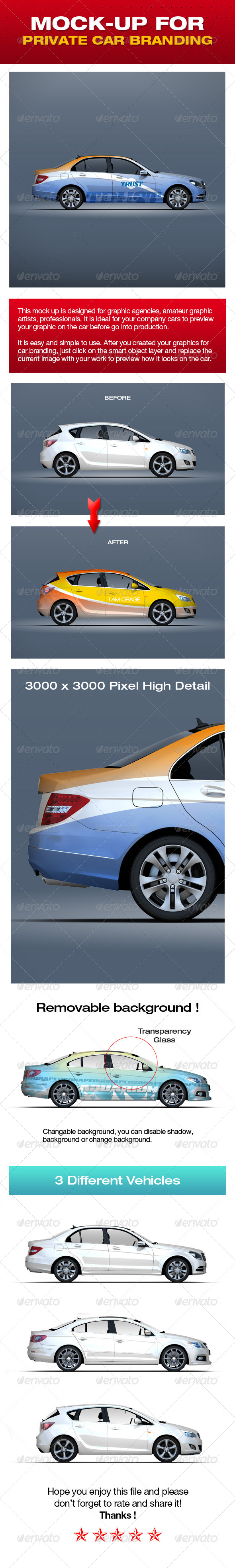 GraphicRiver Mock-up For Private Car Branding 5310163