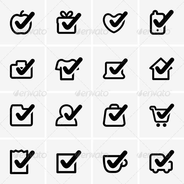 GraphicRiver Check Icons 5346323