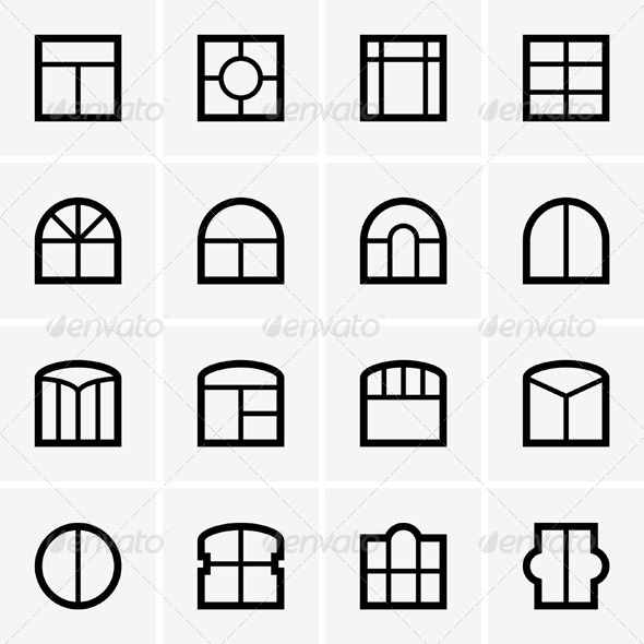 GraphicRiver Window Icons 5346327