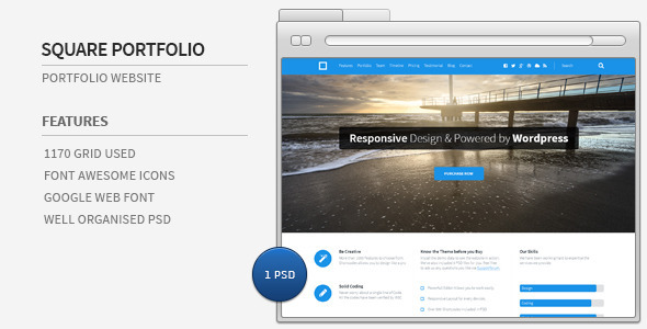 ThemeForest Square Portfolio Website 5346358