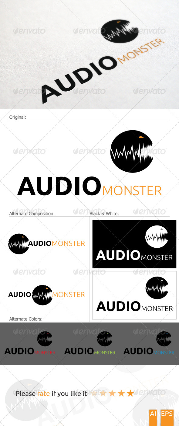 GraphicRiver Audio Monster Logo 5335489