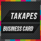 Takapes Business Card - GraphicRiver Item for Sale