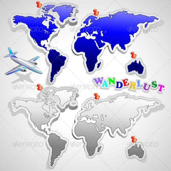 GraphicRiver Air Plane Travel around the World 5348387