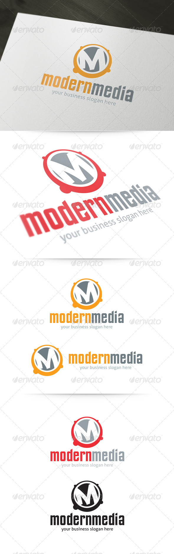 GraphicRiver Letter M Modern Media Logo 5348922