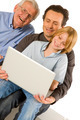 family using pc tablet - PhotoDune Item for Sale