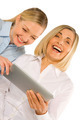 two business women using tablet - PhotoDune Item for Sale