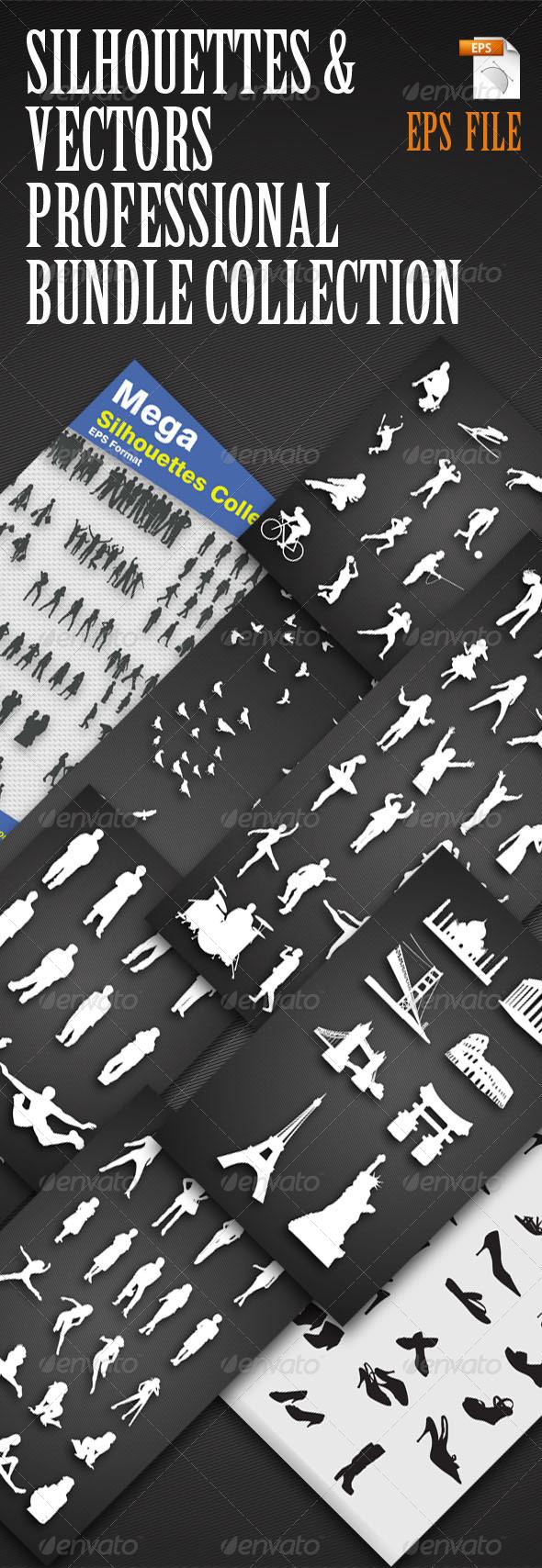 GraphicRiver Bundle Silhouettes & Vectors Collection 5309767