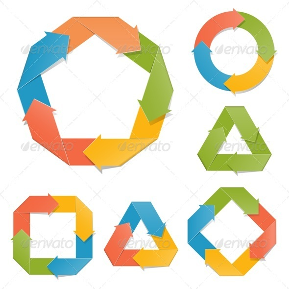GraphicRiver Vector Paper Diagrams 5349717