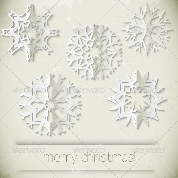 GraphicRiver New Year Snowflakes 5350040