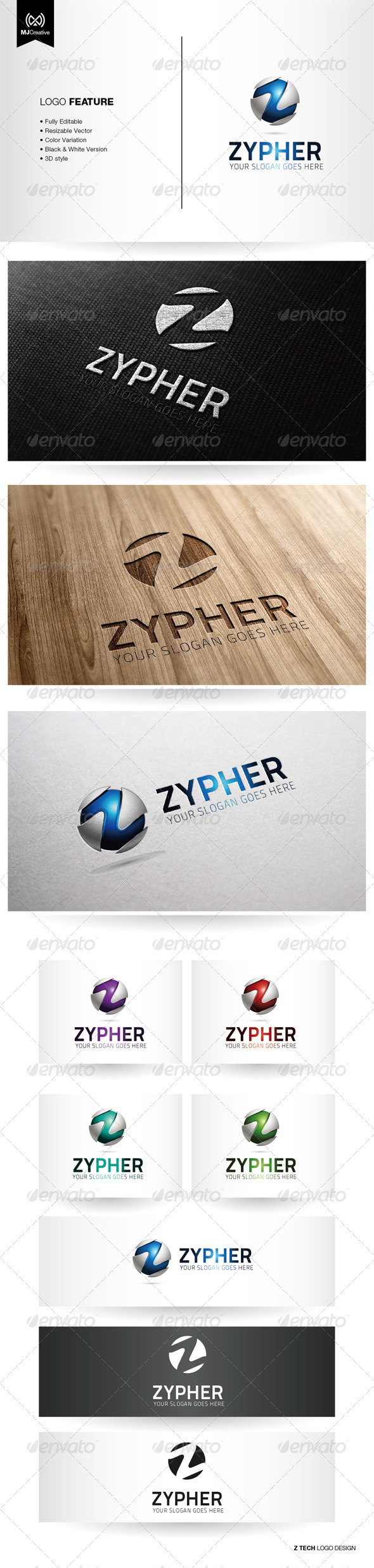 GraphicRiver Z Tech Logo 5350069