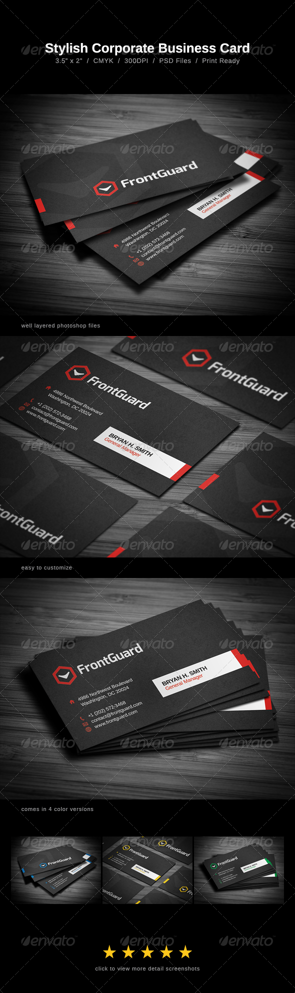 Stylish Business Card - Print Templates
