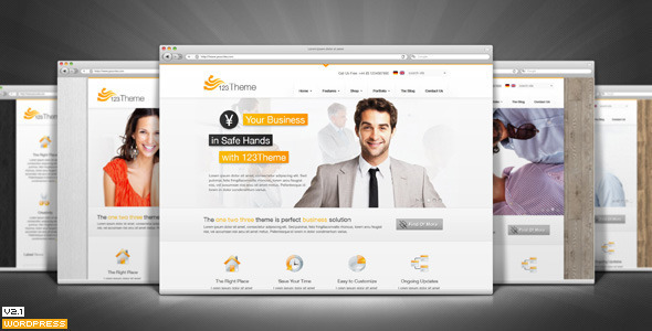 123Theme Business & eCommerce Wordpress Theme - Business Corporate
