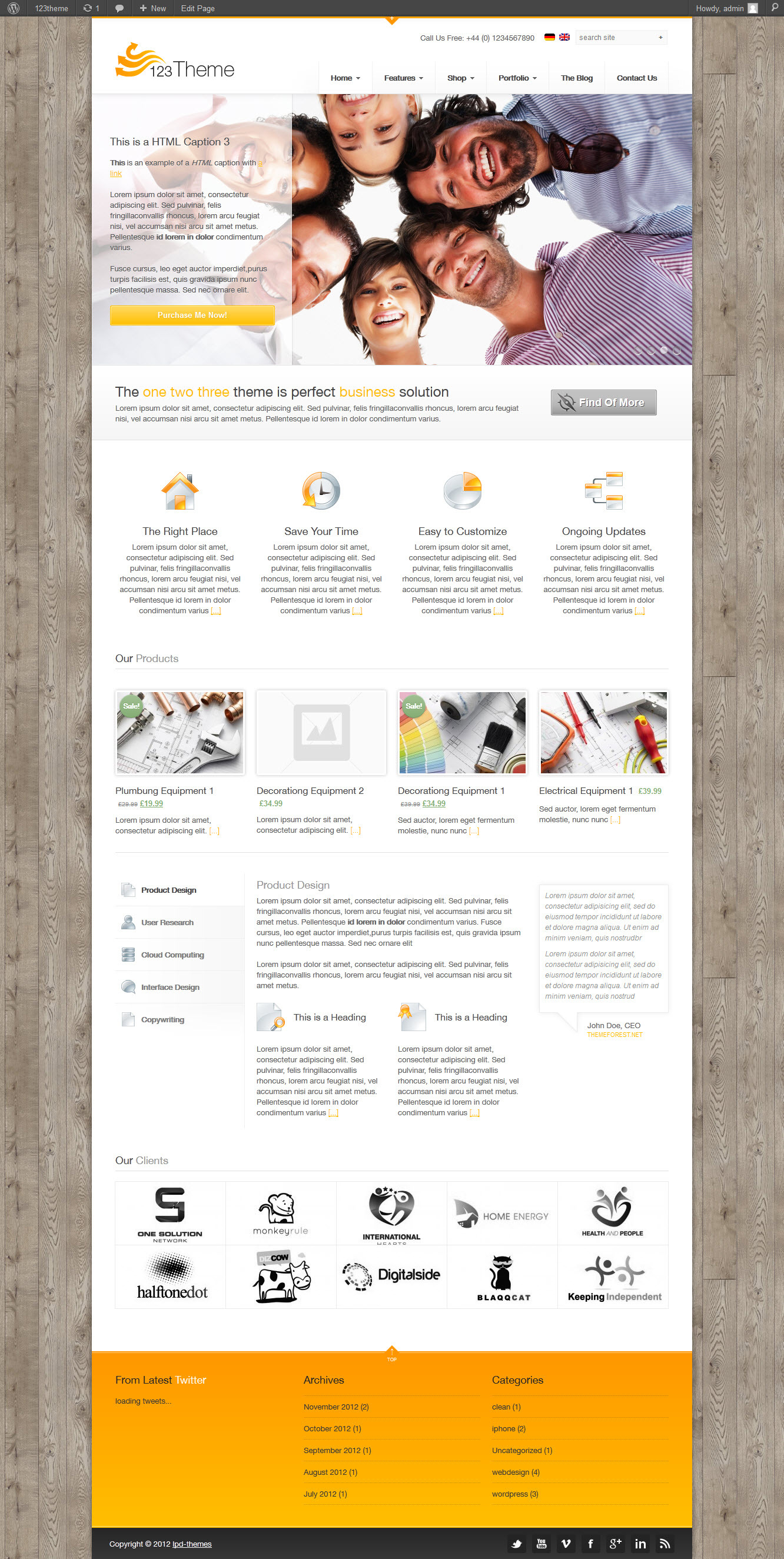 123Theme Business & eCommerce Wordpress Theme - 03_front_page