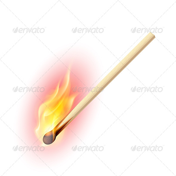 GraphicRiver Burning Match 5351041