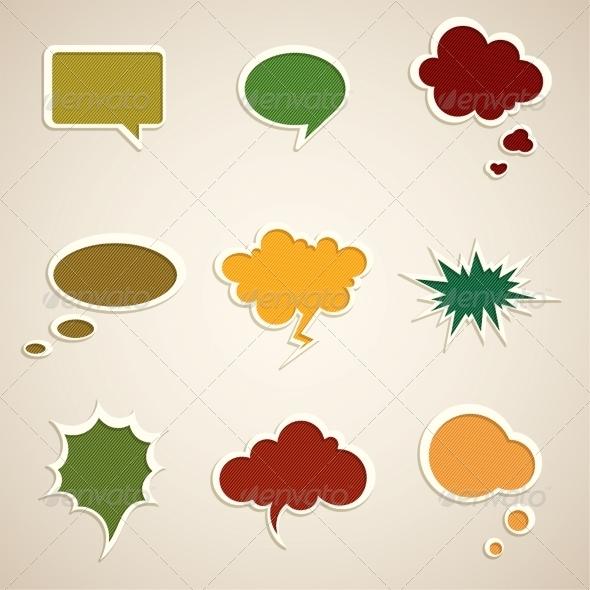 GraphicRiver Speech Bubbles 5351117