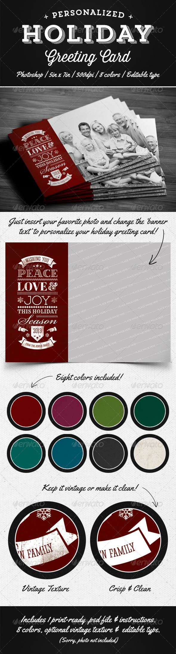 GraphicRiver Personalized Holiday Greeting Card 5351155