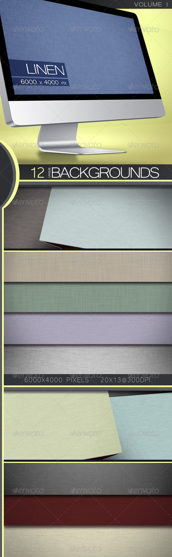 GraphicRiver Linen Backgrounds Volume 1 5351494