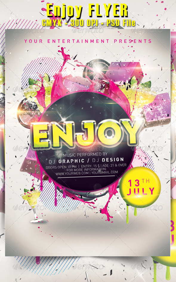 GraphicRiver Enjoy Flyer 5304221
