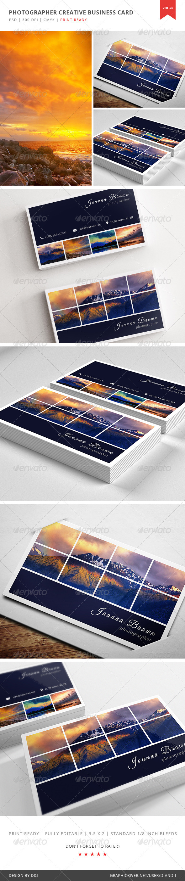 GraphicRiver Photographer Creative Business Card Vol 26 5352314