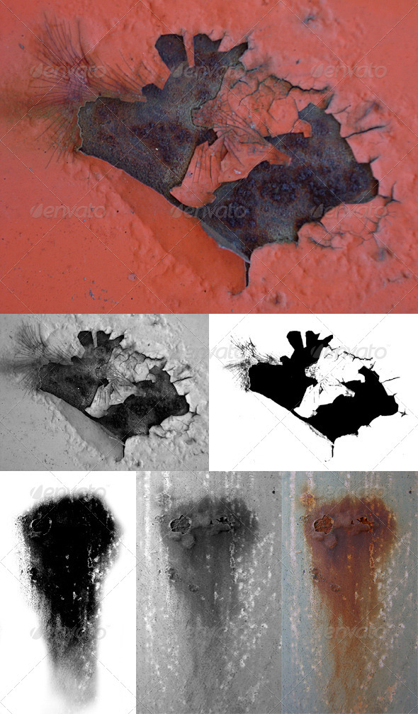 3DOcean AGING Textures Pack 54 Textures & Alpha & Bump CG Textures -  Metal  Scratched 550069
