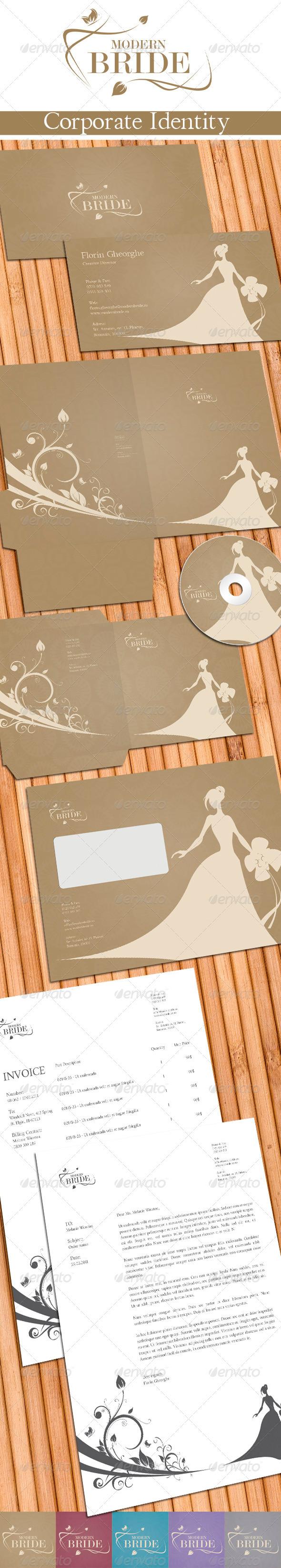 GraphicRiver Modern Bride Corporate Identity 550109