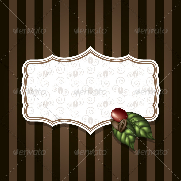 GraphicRiver Coffee Label Background 5352750