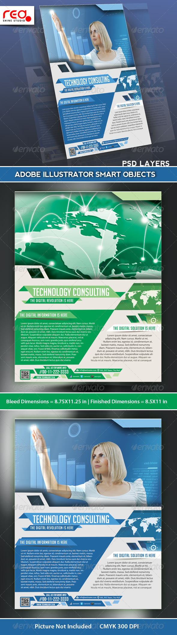 GraphicRiver IT Services Consulting Flyer Poster Template 5352769