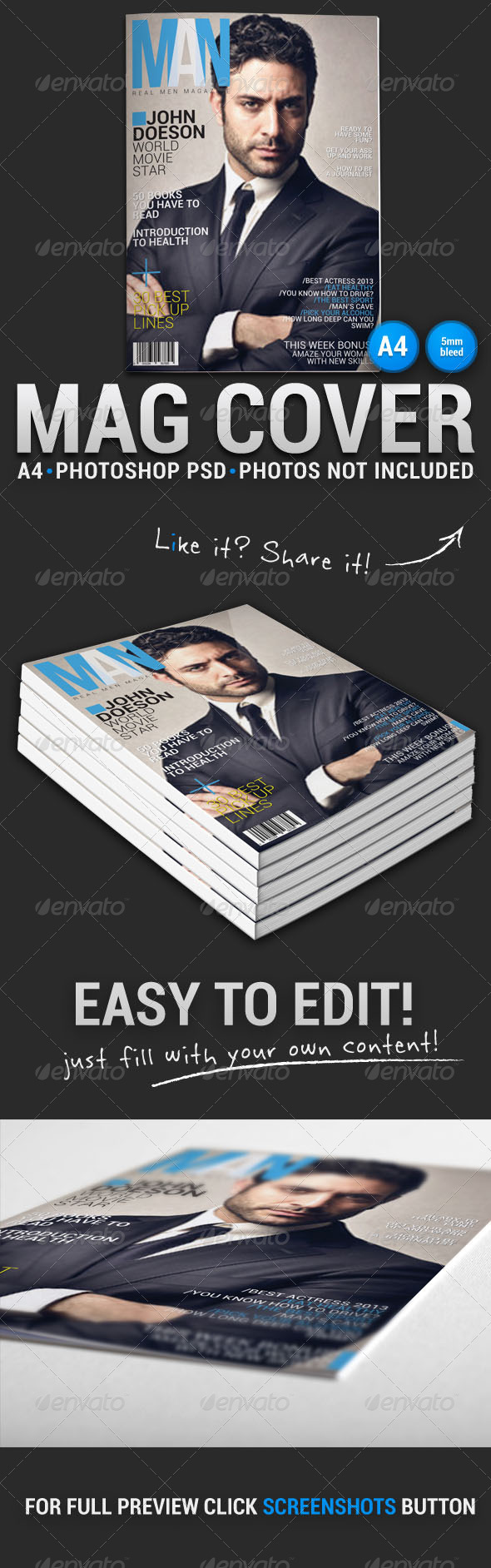 GraphicRiver Magazine Cover 5 5352886