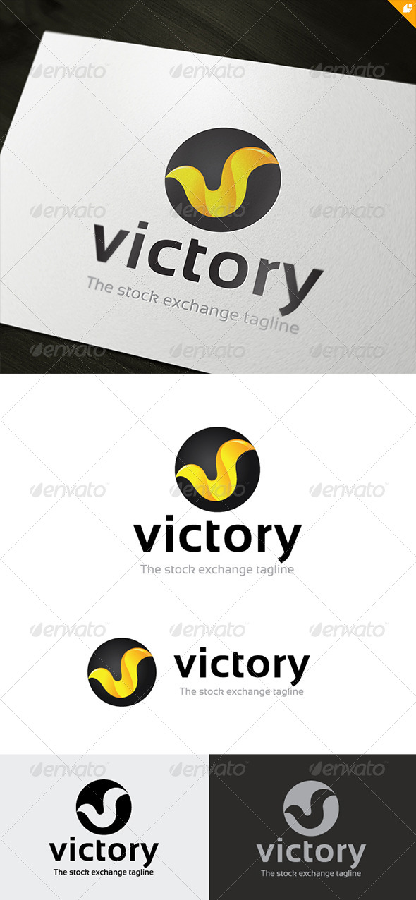 GraphicRiver Victory Stock Exchange Logo 5353239