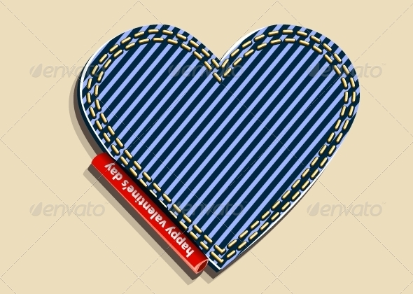 GraphicRiver Jeans Heart 5354128