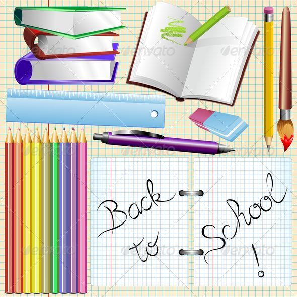 GraphicRiver Stationery Office and School Elements 5354416