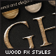 Smooth Glossy Elegant Wood Layer Styles - GraphicRiver Item for Sale