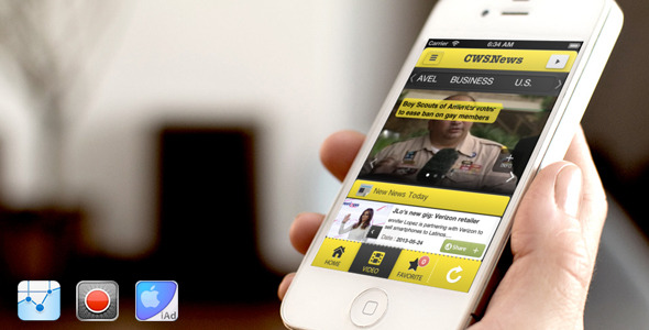 CodeCanyon CWSNews iPhone news app 5320186