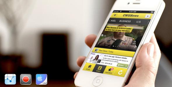 CodeCanyon CWSNews iPhone news app 5320186