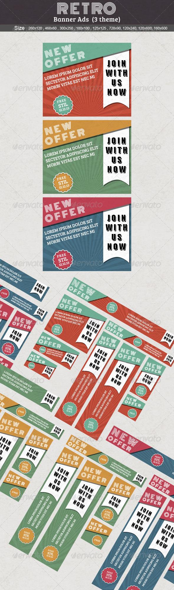 GraphicRiver Retro Web Banner Ads 5356226